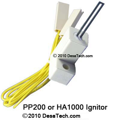 PP200 Ignitor for kerosene heaters, the PP200 hot surface ignitor replaces the HA1000, 102548-01, 102548-02, 102548-03, 102548-04, 102548-05, 102548-06, 102548-07 Desa ignitors